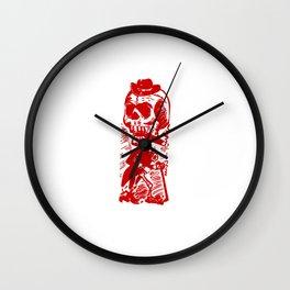 Skeleton Cowboy Wall Clock