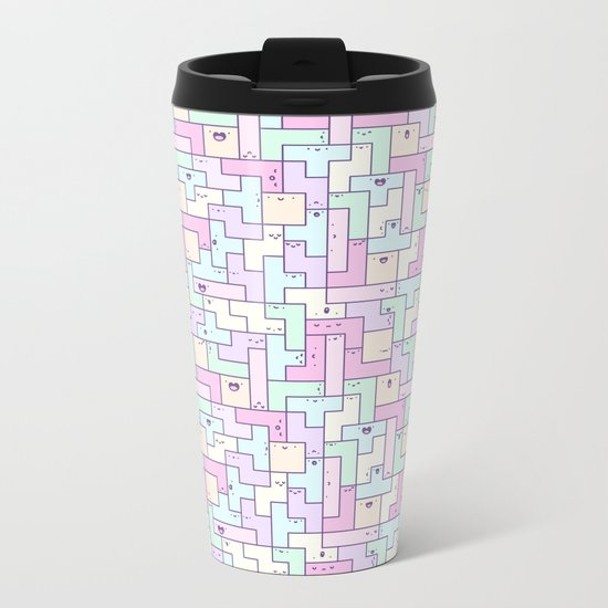 Kawaii Tetris Metal Travel Mug