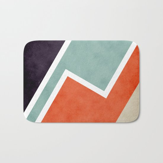 Colorful Textural Abstract Graphic Bath Mat