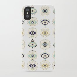 Evil Eye Collection on White iPhone Case