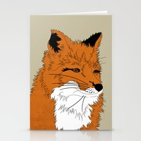 mr fox Stationery Cards featuring Mr Fox by Simone Clark