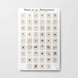 Weed, et al., Wednesdays: 52 Weeks of Botanical Watercolor Paintings Metal Print