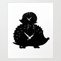 Timed Porcupine Art Print