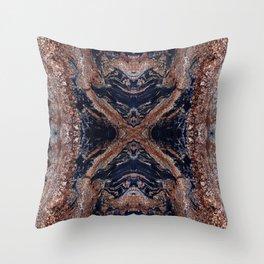 Golden Magma Throw Pillow