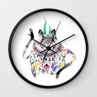 vogue Wall Clocks featuring Vogue by Tania Orozco