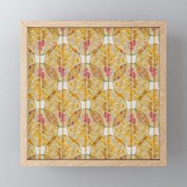 Gold Terrazzo Circle Pattern Framed Mini Art Print