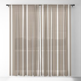 For yesterday in rustic brown Sheer Curtain