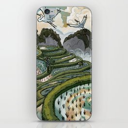 In the Rice Paddies iPhone Skin