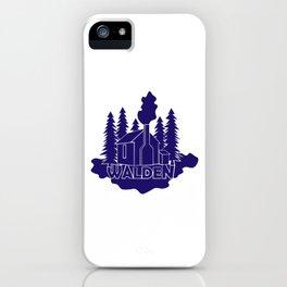 Walden - Henry David Thoreau (Blue version) iPhone Case
