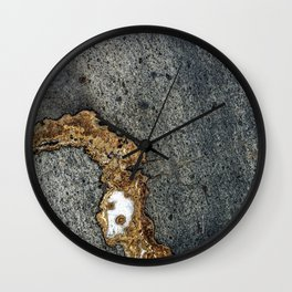 Gold Inlay Marble Wall Clock