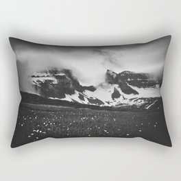 Dyrfjoll in Moody Black and White Rectangular Pillow