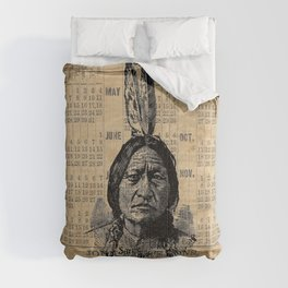 Sitting Bull Native American Chief  Comforters