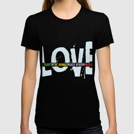 Love Yourself Love Plants Animals Others Loving Revolution graphic T-shirt