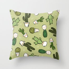 Cacti Dreams Throw Pillow