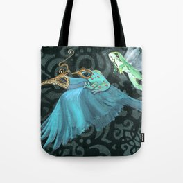 Flying Frogs Tote Bag