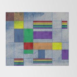 Mid-Century Modern Art - Rainbow Pride 1.0 Throw Blanket