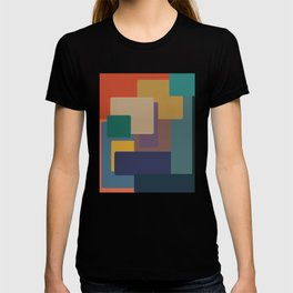 Mid Century Modern Shapes in Deep Earthy Hues T-shirt