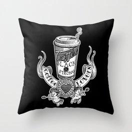 Coffee Lovers (black version) Throw Pillow