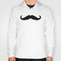 mustache Hoodies featuring Mustache by Macrobioticos