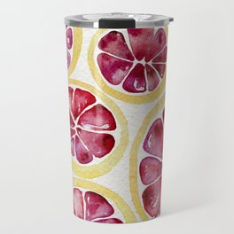 Sliced Grapefruits Watercolor Travel Mug