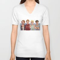5 seconds of summer V-neck T-shirts featuring 5 Seconds of Summer by gabitozati