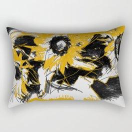Sunflowers in vase Rectangular Pillow