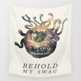 Beholder (Typography) Wall Tapestry