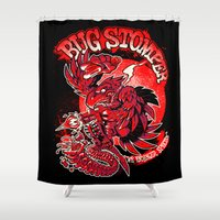 bug Shower Curtains featuring BUG STOMPER by BeastWreck