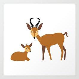 A Herd of Antelope Art Print