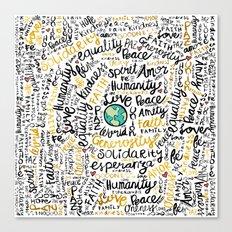 Positive Messages Canvas Print
