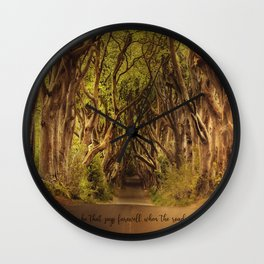 JRR Tolkien Quote  Wall Clock