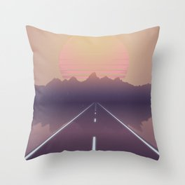 Outrun the Sun Throw Pillow