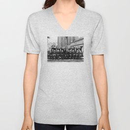World-Renowned Physicists of 1927 at Solvay Conference Unisex V-Neck