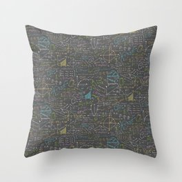 Math Lesson Throw Pillow