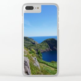 Blue Cove Clear iPhone Case