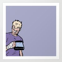 "clint barton Art Prints featuring Clint Barton -  ""Good boy"" by wasabinokiki"