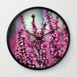 Pink Blossoms Wall Clock