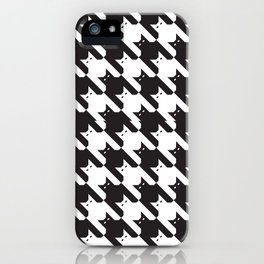 Catstooth Pattern iPhone Case