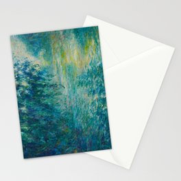 Claude Monet Morning on the Seine Oil Paintng Stationery Cards