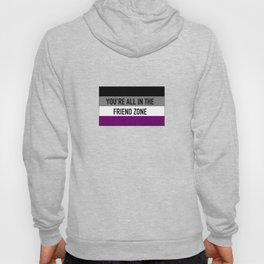 You're all in the friend zone (ace/aro) Hoody
