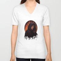 hook V-neck T-shirts featuring Darth Hook by Svenja Gosen