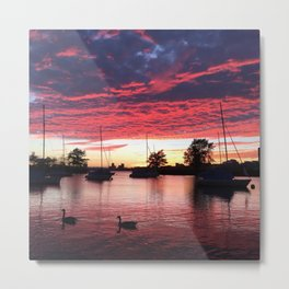 Charles River sunset Metal Print