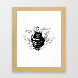 Mad About Books Framed Art Print