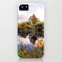 Late Afternoon Reflections on a Lake iPhone Case