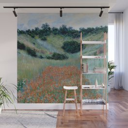 "Claude Monet ""Poppy Field in a Hollow near Giverny"" Wall Mural"