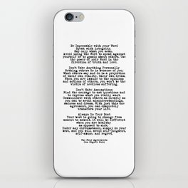 The Four Agreements #minimalist 3 iPhone Skin