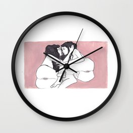 In the Company of Angels Wall Clock