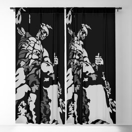 Self sculpture dorm home decor abstract wall art michelangelo motivational Blackout Curtain