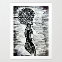 Girl In Between The Lines Art Print
