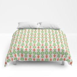 Circular topiary tree seamless vector pattern Comforters